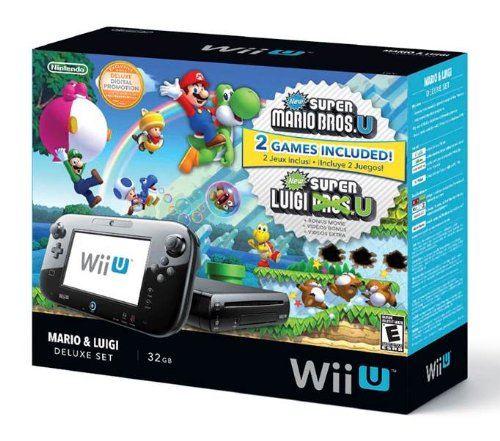 Nintendo Wii U Deluxe Set: Super Mario Bros U & Luigi U Featured