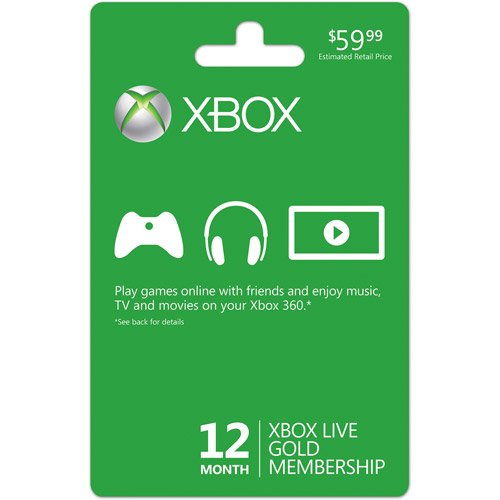 Xbox LIVE 12 Month Gold Membership Card Featured
