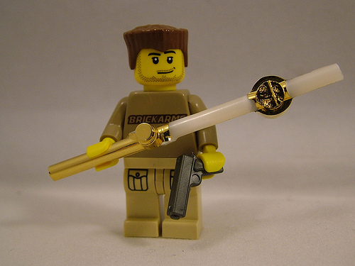 BrickArms 24kt Gold Plated Accessories - What Lies Beneath! Featured