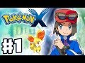 Pokemon X and Y - Gameplay Walkthrough Part 1 - Intro and Starter Evolutions (Nintendo 3DS) Featured
